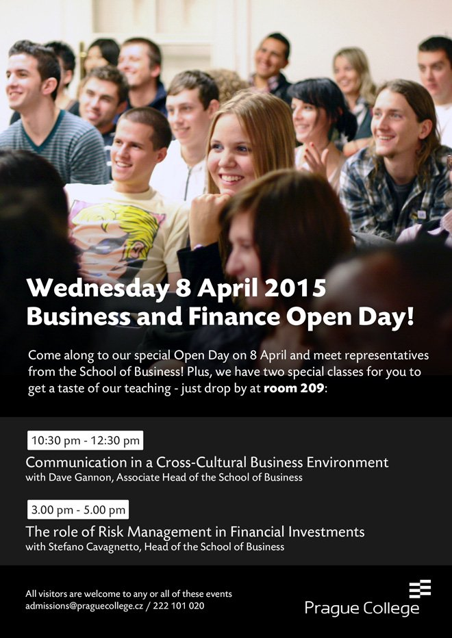 Special Business and Finance Open Day