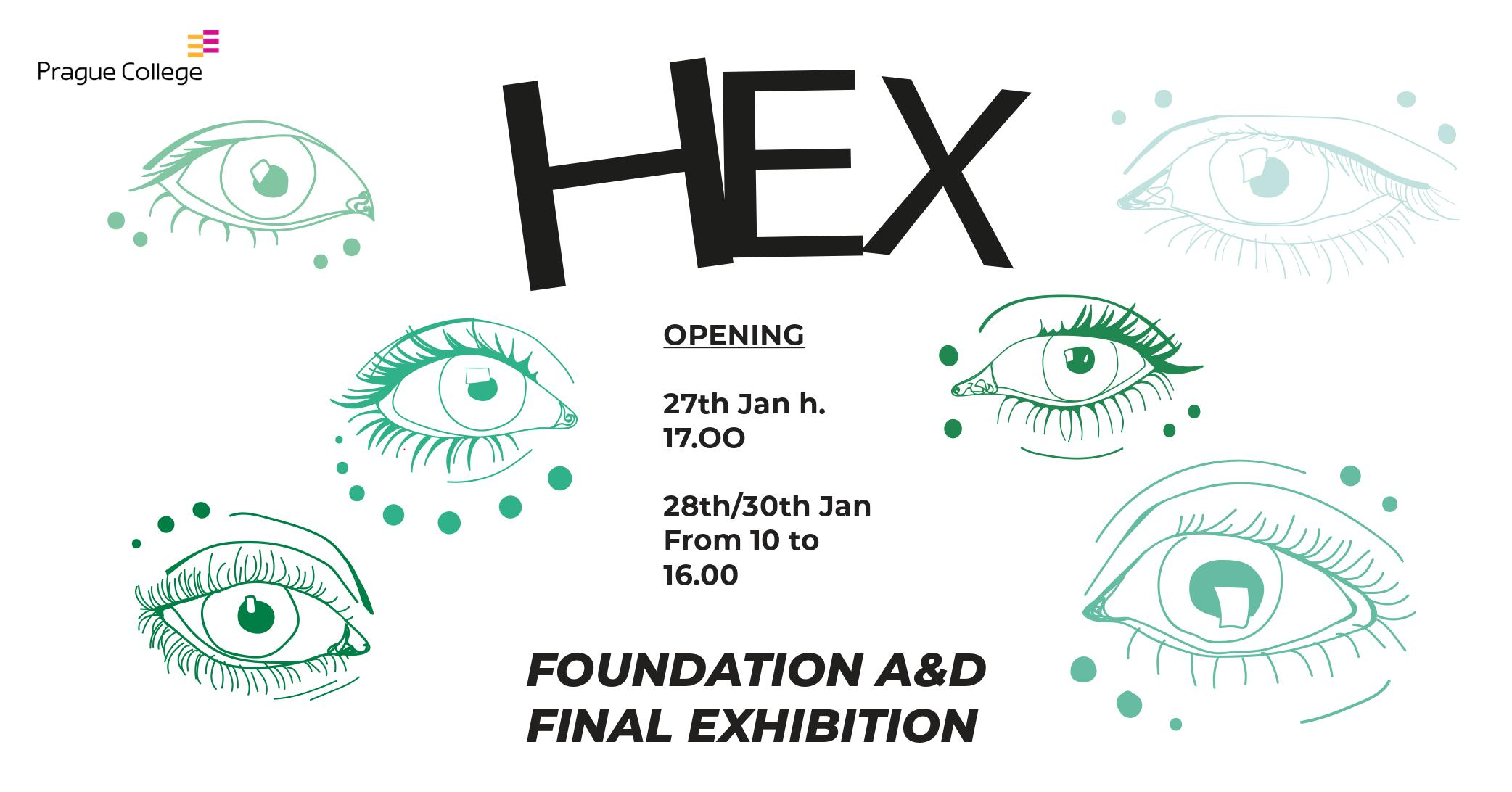 HEX - Foundation in Art & Design Exhibition 2020