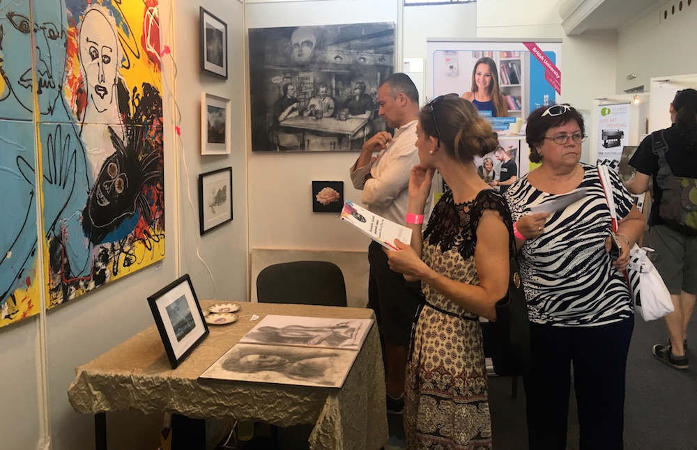 Prague College students exhibit their art work at Prague's international 'Atelier ArtFest'