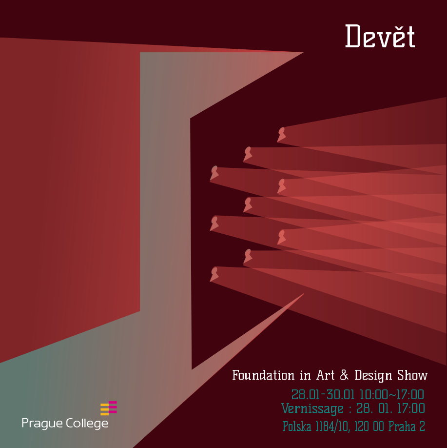 'Devět' - Foundation in Art & Design exhibition 2019