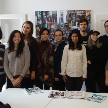 BA students visit Echo magazine