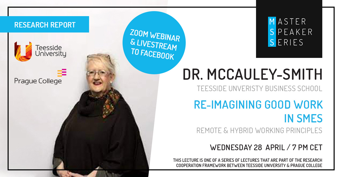 Master Speaker Series: Dr McCauley-Smith, Re-imagining good work in SMEs