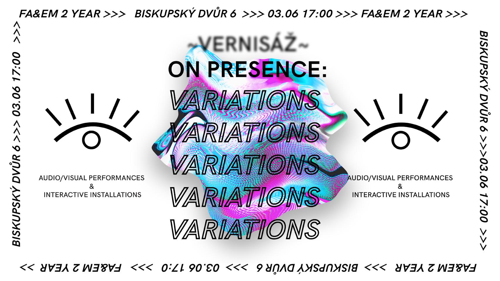 'On Presence: Variations' -audiovisual presentations