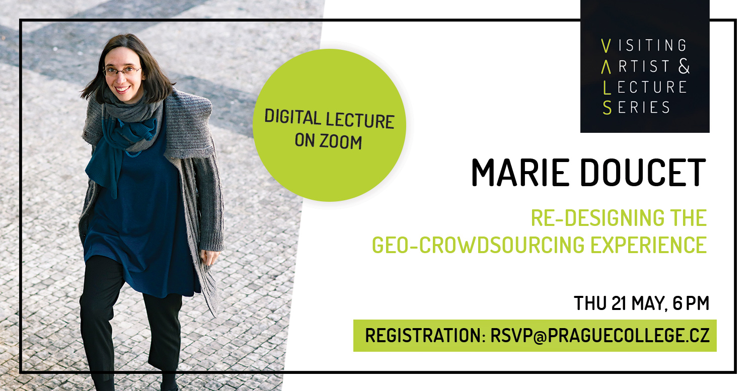 Visiting Artist Lecture: Marie Doucet - Re-Designing the Geo-crowdsourcing Experience